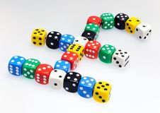 Dice in shape of pound sterling symbol Stock Photos