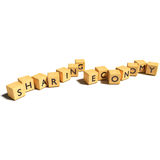 Dice with sharing economy. Dice with new sharing economy Royalty Free Stock Photography