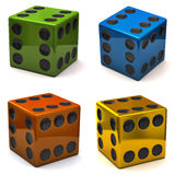 Dice with six on all sides Stock Image