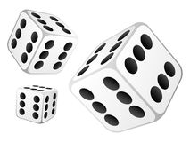 Dice with six dots Royalty Free Stock Photo