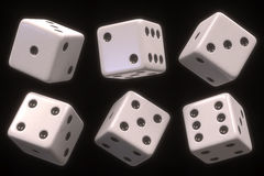 Dice Six Sides Stock Photo