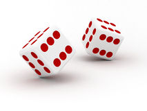Dice with only sixes Stock Image