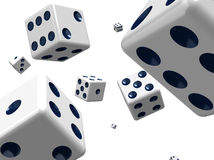 Dice in space Royalty Free Stock Photography