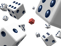 Dice in space Stock Image