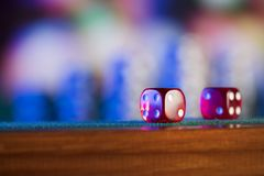 Gambling theme. Place for typography or log. royalty free stock photo