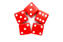 Dice star Stock Photography