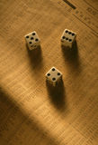 Dice on stock index Royalty Free Stock Photos