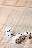Dice and Stock Market Concept Royalty Free Stock Photo