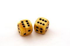 Dice - success concept stock images