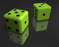 Dice on the surface Royalty Free Stock Photography