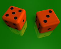 Dice on the surface 2 Royalty Free Stock Photography