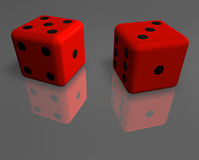 Dice on the surface 3 Stock Images
