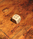 Dice on a table Stock Image