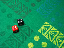 Dice in table game Stock Photos