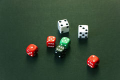 Dice on the table Royalty Free Stock Photos