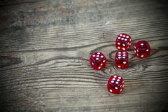 Dice on the table Royalty Free Stock Photo