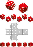 Dice Template Royalty Free Stock Photography