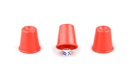 Dice and three cups Stock Image