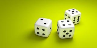 3 dice Royalty Free Stock Photo