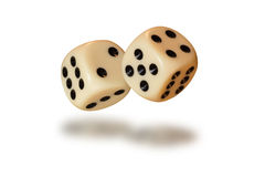Dice throw Royalty Free Stock Images