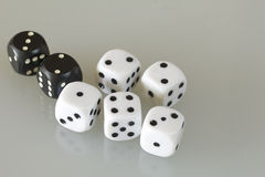 Dice. Throwing the dice during the game Royalty Free Stock Image