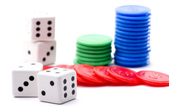 Dice and tokens Stock Photography