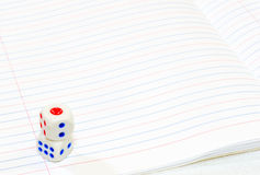 Dice. Two dice with white paper Royalty Free Stock Photography