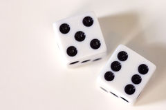 Dice up close Stock Image