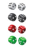 Dice vector Royalty Free Stock Photos