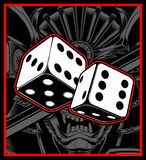 Dice vector black white hand drawing stock illustration