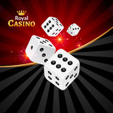 Dice vector casino design background. Dice gambling template concept.  Royalty Free Stock Photography