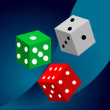 Dice vector casino design background. Royalty Free Stock Photography