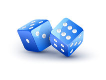 Dice vector design isolated on white. Two dice casino gambling template concept. Royalty Free Stock Image
