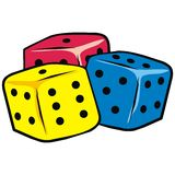 Dice, vector icon Royalty Free Stock Photo