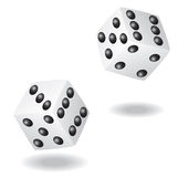 Dice vector illustration Stock Photos
