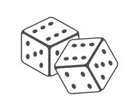 Dice Vector Illustration Royalty Free Stock Photography
