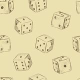 Dice vintage seamless texture Stock Images