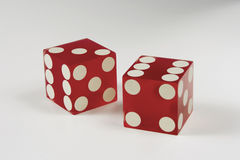 Dice on white Royalty Free Stock Photography