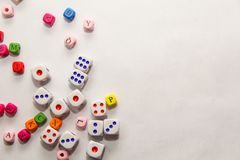 The Dice on white background royalty free stock photography