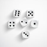 Dice on white background Royalty Free Stock Photography