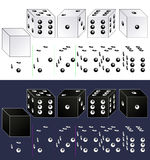 Dice. White and black, to be reasonable, and not (with some sixes on the edges). Provided as designer for quick and easy creation of  with their numbers on the Stock Photos