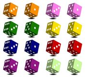 Dice with white dots Royalty Free Stock Photography