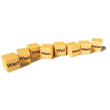 Dice Who, What, When, Where, Why, and how Royalty Free Stock Photo