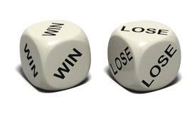 Dice WIN LOSE Royalty Free Stock Photos