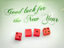 Dice2014. Dice in 2014 with the wishes for the new year Stock Illustration