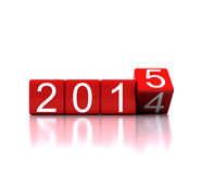 Dice With New Year 2015 Stock Photos