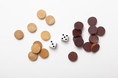 2 dice and wood chess Stock Image