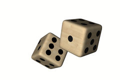 Dice wood, colored. In withe background Royalty Free Stock Image