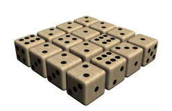Dice wood, colored. In withe background Stock Photography