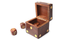Dice wooden set Royalty Free Stock Images